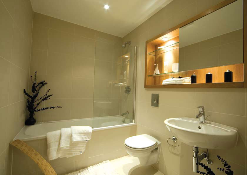 Springfield mill apartment to let near nottingham derby for Modern apartment bathroom ideas